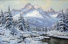 Winter Scene by Laszlo Neogrady (Hungarian,1896-1962)