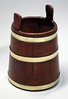 Antique American Brass Bound Bucket
