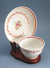 18th Century Porcelain Tea Bowl and Saucer