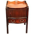 Fine 18th Century English Bow Front Bedside Table