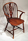 Antique English Wheelback Windsor Armchair