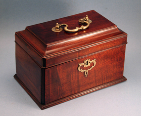 18th Century English Tea Caddy with Hidden Drawer