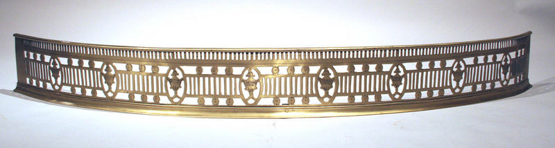 Fine George III Bow Front Brass Firefender
