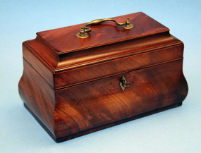 Fine  18th Century Bombe-form Tea Caddy