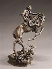 Western Sculpture by Ken Payne (American, 1938-2012)