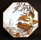 Minton Aesthetic Movement Ornithological Cabinet Plates
