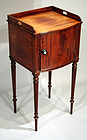 English Regency Bedside Table