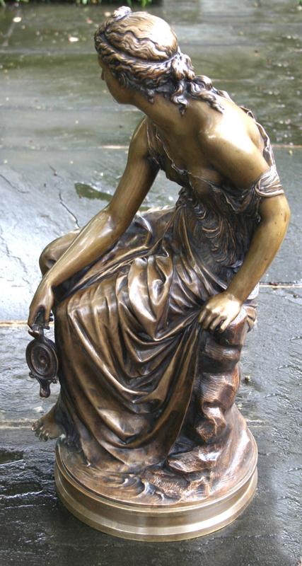 """Hestia"" by Etienne-Henri Dumaige (French, 1830-1888)"