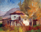 Impressionist Landscape with House