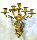 Fine Pair of French Five Lite Sconces (Bras de Lumiere)