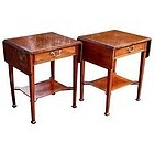 Small Pair of Antique English Pembroke Tables
