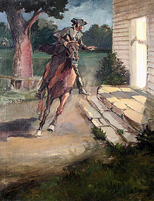 Illustration of Paul Revere's Ride