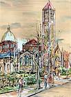 Church in Washington, DC by Lily Spandorf (Am. b.1915)