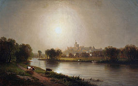 Windsor Castle by William R. Tyler (Am. 1825-1896)