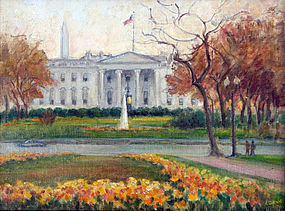 """View of the White House"" by Caroline van Hook Bean"