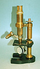 Antique Brass Microscope by Nachet & Fils