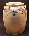 Baltimore Decorated Stoneware Jar