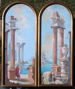 Pair of Italianate Gouaches