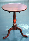 18th C. American Cherry Dish Top Candlestand