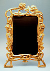 Antique Art Noveau Brass Table Frame