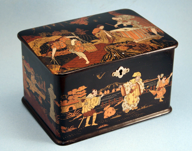 Fine Antique Japanese Black Lacquer Tea Caddy