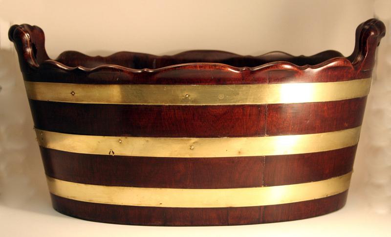 Rare George III Brass Bound Bottle Cooler