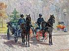 Cabbies at Dupont Circle, Washington D.C.