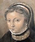 Charcoal Drawing of Jacoba van Beierin