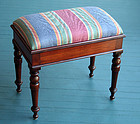 Antique English Upholstered Bench