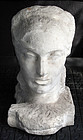 Large Carved Marble Classical Head