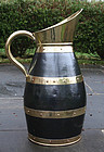 Large Antique Brass and Copper Pitcher