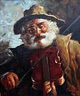 The Violin Player by Carlo Ciappa (Italian, 1890-1970)