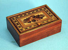 Small Tumbridge Ware Trinket Box