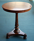 Antique Round English Neoclassical Table