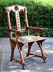 Arts and Crafts Armchair in Oak