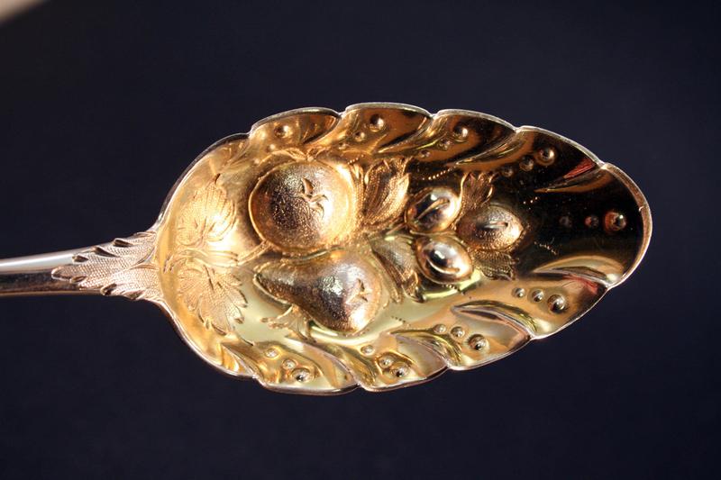 Pair of George III Irish Silver Berry Spoons
