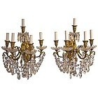 19th Century French Crystal and Ormolu Sconces (Bras de Lumière)