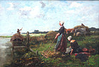 Painting by Johannes Marinus Ten Kate  (Dutch, 1859-1896)