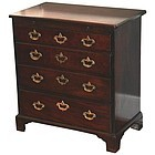 Rare Tiny 18th Century English Bachelors Chest Of Drawers
