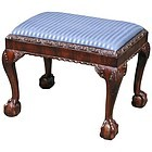 19th Century Chippendale Style Footstool in mahogany