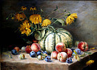 19th Century Still Life Painting by P.F.E. Coppenolle (Belgian)