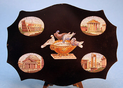 19th Century Grand Tour Micromosaic From Italy