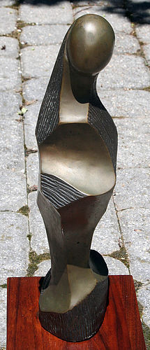 Fine Modernest Abstract Figural Form Bronze Sculpture