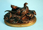 Small Bronze Bird Sculpture by Jules Moigniez (French, 1835-1894)