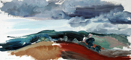Modernist Landscape by John Hitchens (English b. 1940)