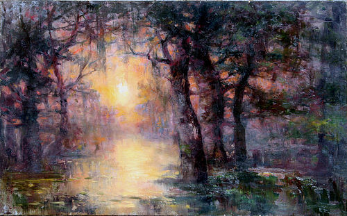 Bayou Scene by Lucien Whiting Powell (American 1846-1930)