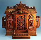 Charming Antique House-form Cigar Humidor
