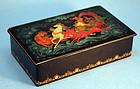 Russian Polychrome Lacquer 'Fairy Tale' Box