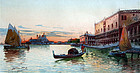 Watercolor Painting of the Grand Canale, Venice