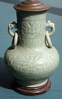 Antique Chinese Celedon Lamp